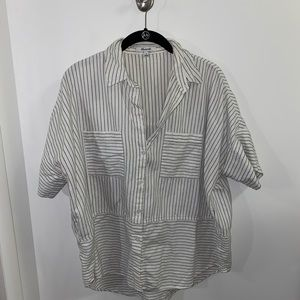 MADEWELL BUTTON DOWN STRIPE TOP